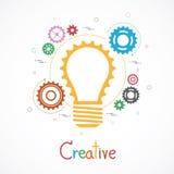 Kreativ mit Gang-Konzept lizenzfreie abbildung