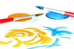 Kreativ - Pinsel u. Farbe Lizenzfreie Stockfotos