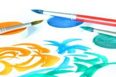 Kreativ - Pinsel u. Farbe Lizenzfreie Stockbilder