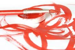 Kreativ - Pinsel u. Farbe Stockbild