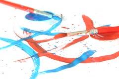 Kreativ - Pinsel u. Farbe Stockfotografie