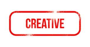 Kreativ - roter Schmutzgummi, Stempel vektor abbildung