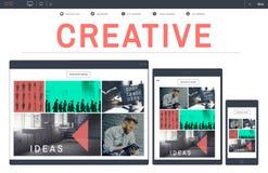 Kreativ schaffen Sie Ideen-Strategie-Inspirations-Konzept stockbild