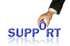 Kreativ vom Hand- und Wort Support Lizenzfreies Stockbild