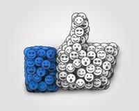 Kreativ wie die Ikone gemacht von vielem kleinen Lächeln Mieten legten digital Bild fest vektor abbildung