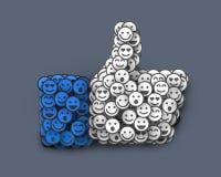 Kreativ wie die Ikone gemacht von vielem kleinen Lächeln Mieten legten digital Bild fest lizenzfreie abbildung
