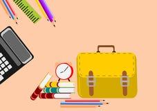Kreativ zurück zu Schulsatz Abbildung lizenzfreie abbildung