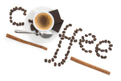 Kreative Auffassung mit Cupkaffee lizenzfreies stockbild