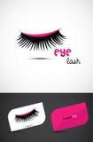 Kreative Augenpeitsche Ikone Stockbild