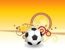 Kreative Auslegung der abstrakten Fußballkunst Lizenzfreies Stockfoto