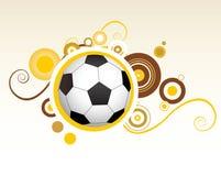 Kreative Auslegung des abstrakten Fußballs Stockfoto