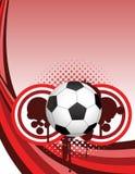 Kreative Auslegung des abstrakten Fußballs Stockfotos