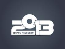 Kreative Auslegung des glücklichen neuen Jahres 2013. Stockfoto
