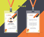 Kreative Ausweis-orange Gelb-Farbe Lizenzfreie Abbildung
