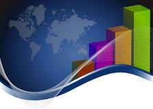 Kreative Balkendiagramme und Karte Lizenzfreie Stockbilder