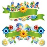 Kreative Blumenfahnen Stockfotos