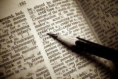 Kreative Definition unterstrichen durch Bleistift Stockbild