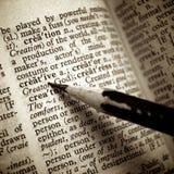 Kreative Definition unterstrichen durch Bleistift Lizenzfreie Stockfotos