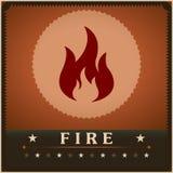 Kreative Designschablone des Feuerflammenvektorplakats Stockbild