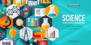 Kreative Fahne der Wissenschaftslaborforschung lizenzfreie abbildung
