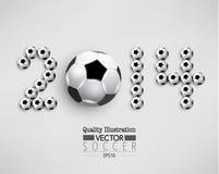 Kreative Fußball-Fußball-Sport-Vektor-Illustration Lizenzfreie Stockfotografie