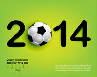 Kreative Fußball-Fußball-Sport-Vektor-Illustration Stockfotografie