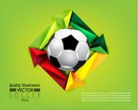 Kreative Fußball-Fußball-Sport-Vektor-Illustration Lizenzfreie Stockbilder