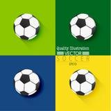 Kreative Fußball-Fußball-Sport-Vektor-Illustration Lizenzfreies Stockbild