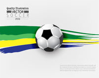 Kreative Fußball-Fußball-Sport-Vektor-Illustration Stockbilder