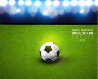Kreative Fußball-Fußball-Sport-Vektor-Illustration Lizenzfreies Stockfoto