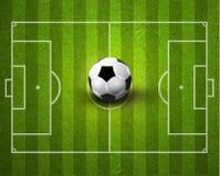 Kreative Fußball-Fußball-Sport-Vektor-Illustration Stockfoto