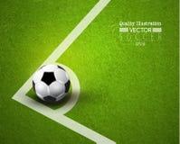 Kreative Fußball-Fußball-Sport-Vektor-Illustration Lizenzfreie Stockfotos