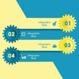 Kreative Gangc$information-graphik-Wahlfahne Lizenzfreies Stockbild