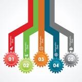 Kreative Gangc$information-graphik-Wahlfahne Lizenzfreie Stockbilder