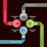 Kreative Gangc$information-graphik-Wahlfahne Stockbild