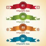 Kreative Gangc$information-graphik-Wahlfahne Lizenzfreie Stockfotos