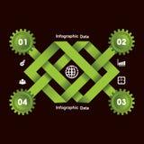 Kreative Gangc$information-graphik-Wahlfahne Stockbilder