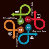 Kreative Gangc$information-graphik-Wahlfahne Stockfotografie