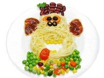 Kreative Gemüselebensmittelabendessen-Affeform Stockfoto