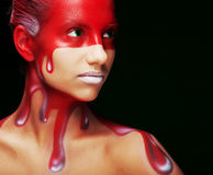 Kreative Gesichtkunst stockfotografie