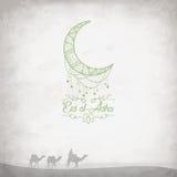 Kreative Grafiken mit Kamelen in der Wüste auf grungy Hintergrund Stockfoto