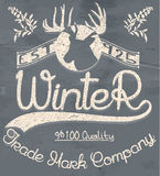 Kreative grafische Logomitteilung für Winterdesign Vektor Lizenzfreies Stockbild