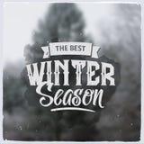 Kreative grafische Mitteilung für Winterdesign Lizenzfreies Stockbild