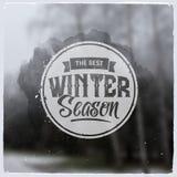 Kreative grafische Mitteilung für Winterdesign Lizenzfreie Stockbilder