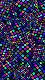 kreative Hintergrundzusammenfassung der Bälle 3d Schillerndes blaues purpurrotes rosa Glasmosaikmuster vektor abbildung