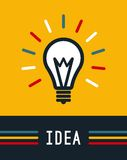 Kreative Idee in der Glühlampeform, Lampenikone, Idee lizenzfreie abbildung