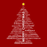 Kreative Idee des Weihnachtsbaums Stockbild
