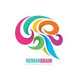Kreative Idee - Geschäftsvektorlogoschablonen-Konzeptillustration Abstraktes buntes Zeichen des menschlichen Gehirns Flexibel mac vektor abbildung