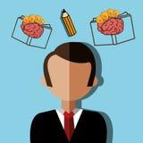 Kreative Ideen des menschlichen Gehirns Lizenzfreies Stockfoto