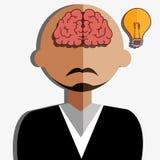 Kreative Ideen des menschlichen Gehirns Stockbild